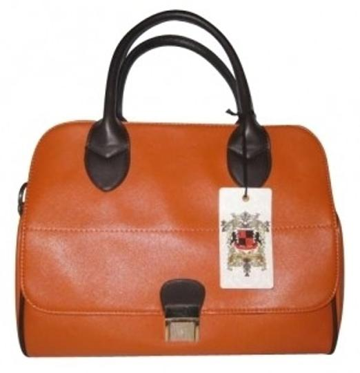 Urban Expressions Satchel in Orange and Coffee
