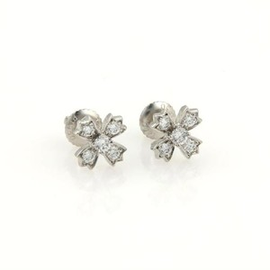 Tiffany & Co. Tiffany Co. Floret Diamonds Platinum Floral Stud Earrings