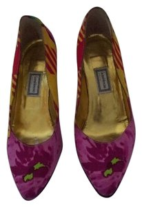 Versace Print Floral Bright Unusual multi colored Pumps