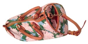 Dooney & Bourke Satchel in Floral pale pink/blue