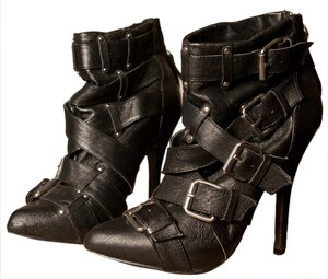 ZiGi girl Leather Buckle Leather Leather Black Leather Boots