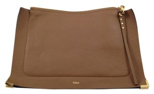 Chloe Ghost Leather Soft Brown Clutch