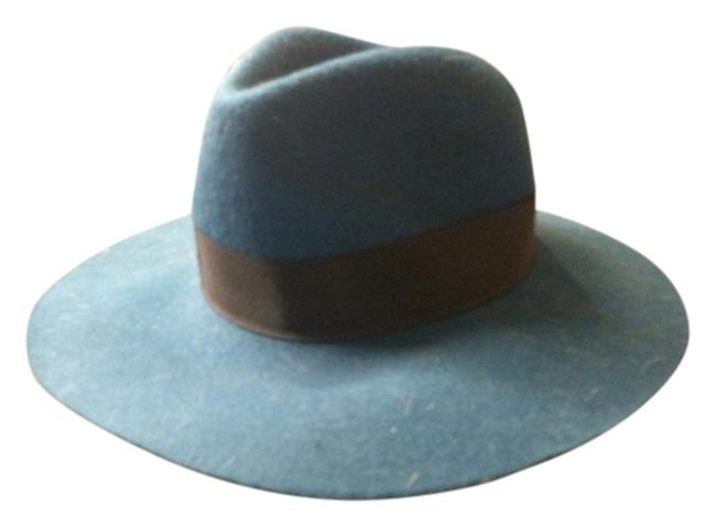 Item - Dark Teal and Black Adorable Felt Fedora Hat