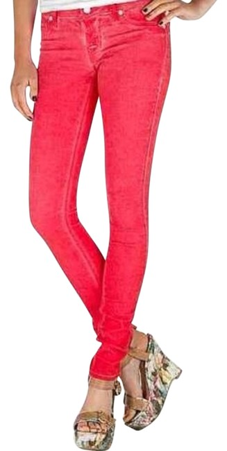 Item - Red Coated Cherry Ultra Stretch Skinny Jeans Size 26 (2, XS)