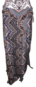 Maxi Skirt multi, grey, black, white & peach