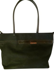 f8075cc39167 Franco Sarto Handbag Purse Nylon Canvas Designer Tote in Black   Silver