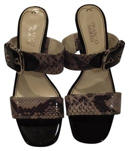 Franco Sarto Snakeskin/Black Sandals