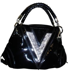 Versace couture crystal V large runway hobo bag ( new without tag,dust bag included) Hobo Bag