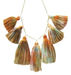 Other Handmade Bohemian Boho Tassel Yarn Hippie Necklace