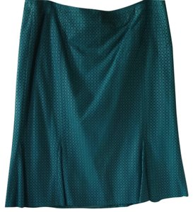 David Meister Leather Teal Skirt Turquoise