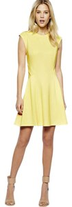 Ted Baker Neoprene Fit And Flare Yellow Dress