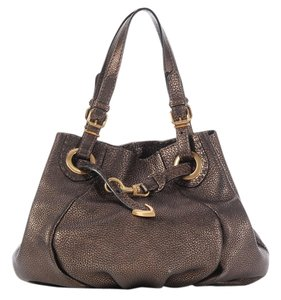 Fendi Bronze Selleria Gold Hardware Fi.k0209.10 Satchel
