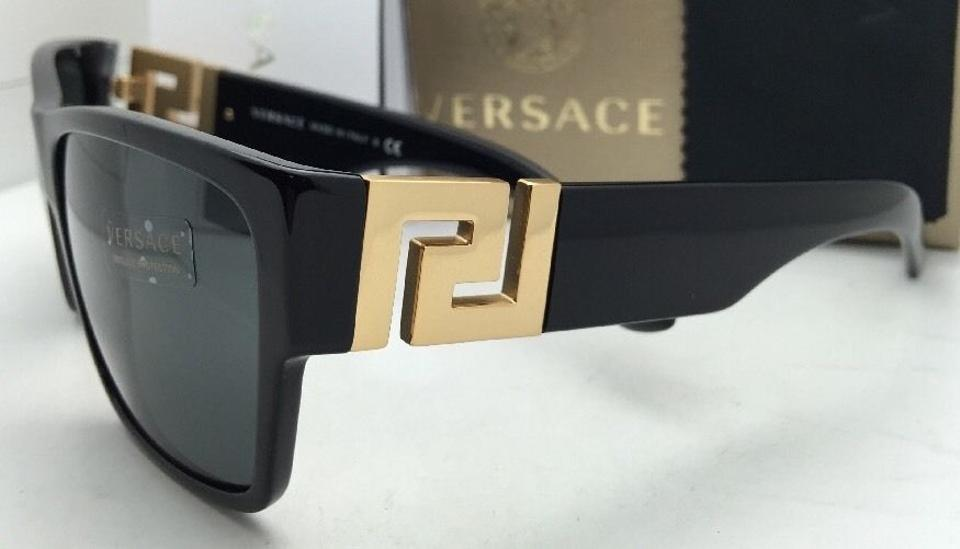 7dbb3127f0 Versace New VERSACE Sunglasses VE 4296 GB1 87 59-16 145 Black   Gold.  12345678910