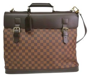 Louis Vuitton Damier Browns, Crimson Travel Bag