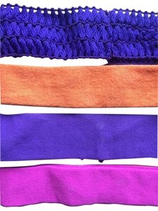 Claire's Four (4) Sunset Color Soft Headbands