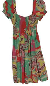 Donna Morgan short dress Multi Colored Flower Print on Tradesy