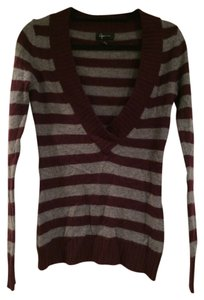 Aqua Bloomingdales Cashmere Fall Stripes Sweater