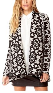 F21 Aztec Butterfly High Low Coat Cardigan