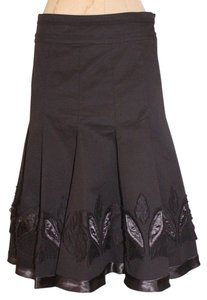 Etcetera Floral Trim Skirt BROWN