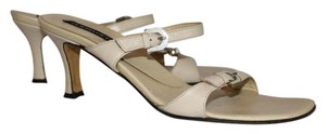 Claudia Ciuti Creme with Silver Buckles Sandals
