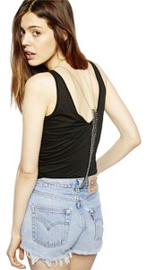 ASOS Silver Spine Bodychain Harness Crossover Chain Necklace