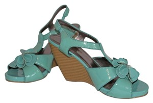 Restricted Robin's Egg Blue with Flower Wedges