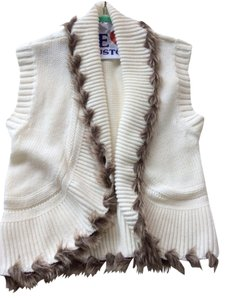 Cache Faux Fur Trim Vest