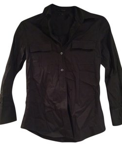 Theory Blouse Work Workwear Winter Fall Summer Button Down Shirt black