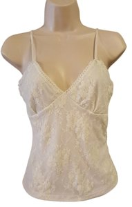 interi Lace Tank Top White