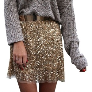 Zara Mini Skirt Gold