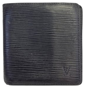 Louis Vuitton Today's Giveaway #5237 Black epi leather bifold card case wallet