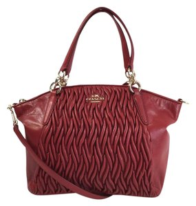 Coach Kelsey F37081 New Satchel in Red