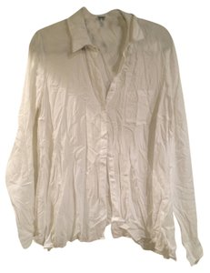 Splendid Summer Fall Blouse Button Down Shirt White