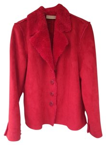 Pure Simple Natural Red Leather Jacket