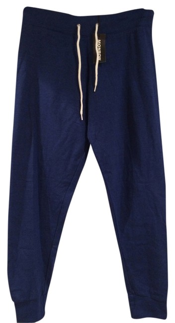 Preload https://item2.tradesy.com/images/monrow-blue-sweatpants-winter-summer-fall-comfy-skinny-pants-size-4-s-27-1318411-0-0.jpg?width=400&height=650