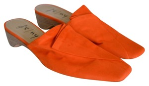 French Sole Orange Mules