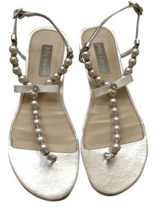 Betsey Johnson White Sandals