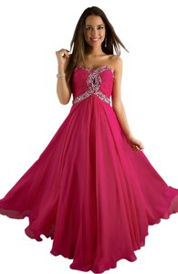 Night Moves Prom Collection Strapless A-line Empire Waist Dress