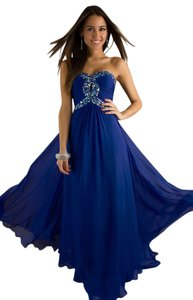 Night Moves Prom Collection Strapless Empire Waist Dress