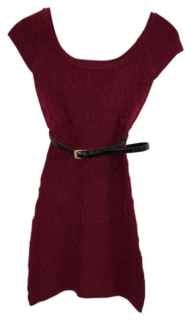 Preload https://img-static.tradesy.com/item/13184599/bebe-burgandy-sweater-belted-mini-night-out-dress-size-2-xs-0-1-650-650.jpg