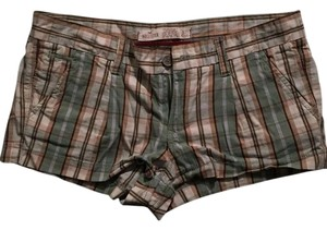 Hollister Mini/Short Shorts Green, brown, and white