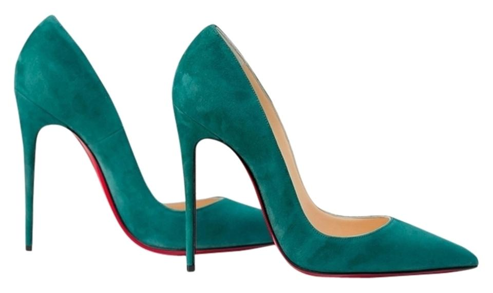 quality design dd496 cde13 Christian Louboutin Green So Kate 120 Forest Suede 120mm Pumps Size US 6  Regular (M, B) 9% off retail