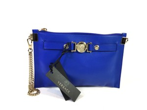 Versace Blue Clutch