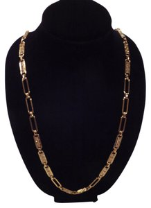 Ann Taylor Gold Paperclip Necklace