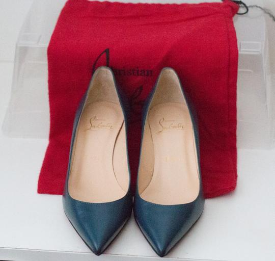 Christian Louboutin Teal Pumps Image 8