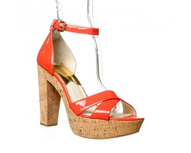 Item - Mandarin Orange Camilla Patent Leather Sandals New Platforms Size US 6.5 Regular (M, B)