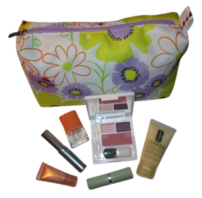 Item - White Ladybug Purple and Yellow Design Up To Date Bundle Includes Makeup Skin Care. Perfume Cosmetic Bag