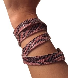 Unknown Pink Snakeskin Wrap Bracelet