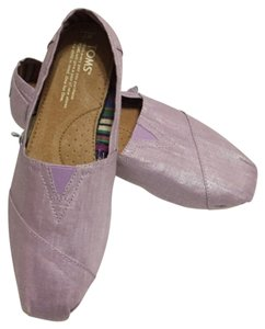 TOMS Shiny light purple Flats