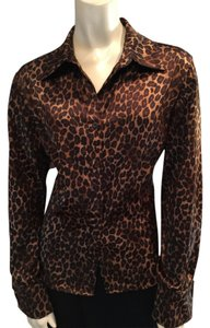 George Top Brown & Black Cheetah Print